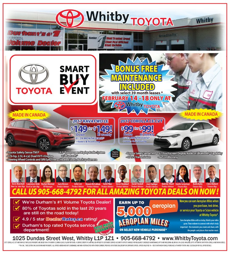 Whitby Toyota Family Week FREE MAINTENANCE Event!