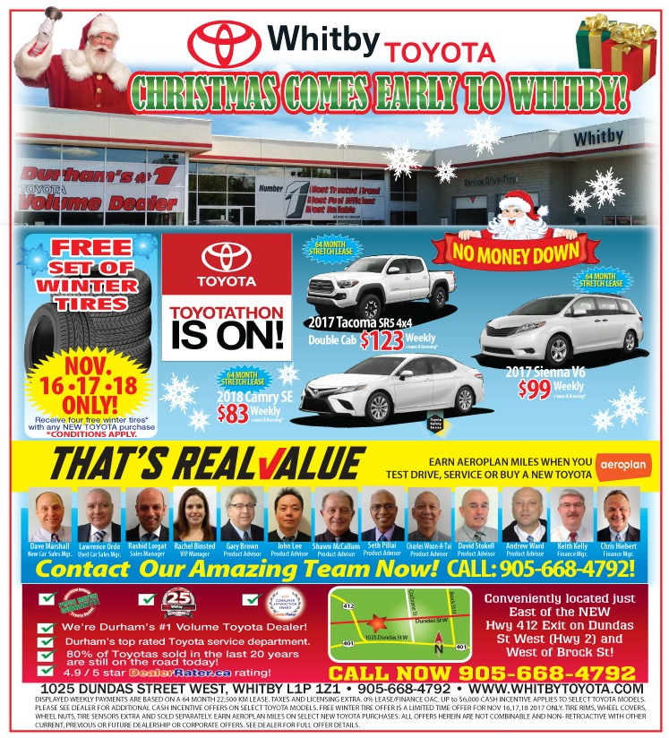 TOYOTATHON IS ON AT WHITBY TOYOTA!