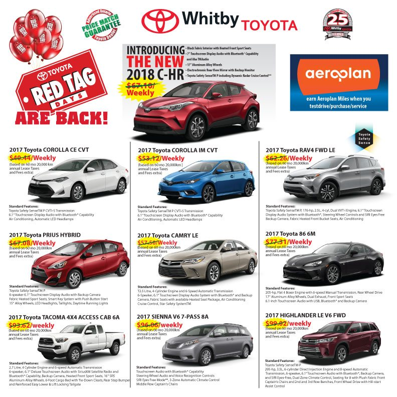 WHITBY TOYOTA RED TAG DAYS ARE BACK!