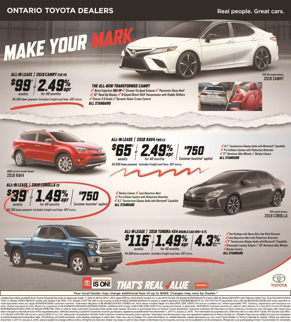 Latest Toyota Offers!