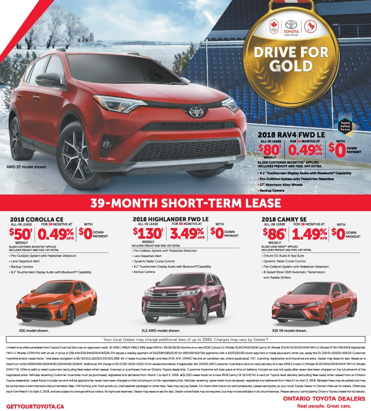 We Price Match against any advertised Ontario Toyota Dealer Pricing!