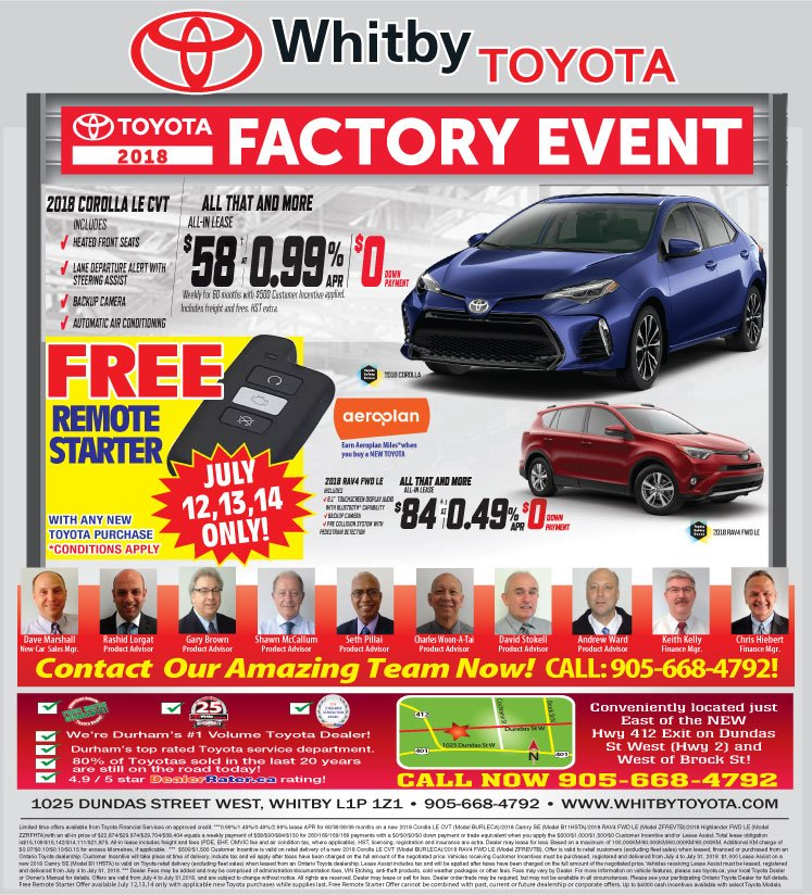 Toyota 2018 Factory Event